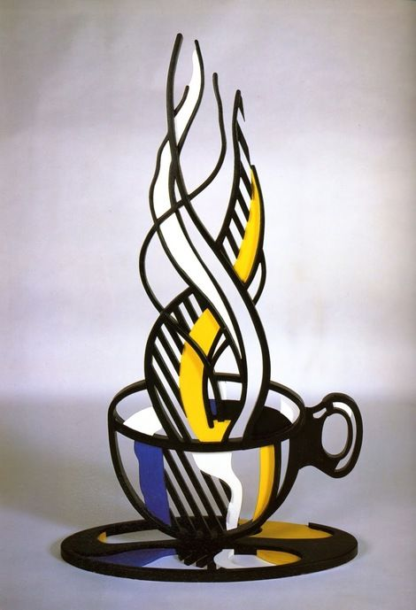 Roy Lichtenstein, Cup and saucer II on ArtStack #roy-lichtenstein #art                                                                                                                                                                                 More