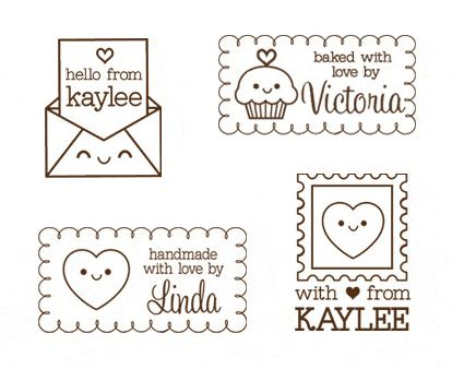 Cute Rubber Stamps at paperglitter.com