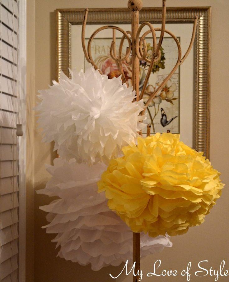 diy hanging tissue balls 830x1024 DIY Hanging Tissue Ball {Tutorial}