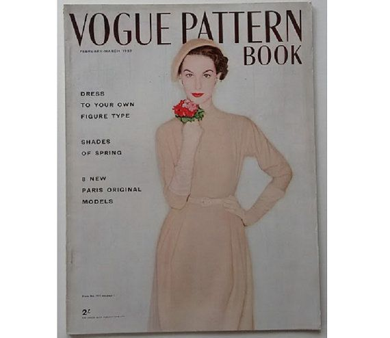 Vintage Vogue Pattern Book February March 1953 by CartrefEclectig