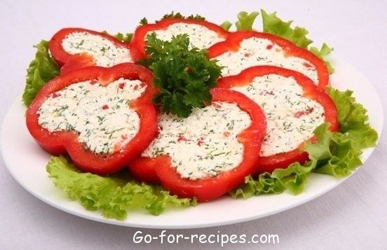 THE PEPPERS STUFFED WITH CHEESE