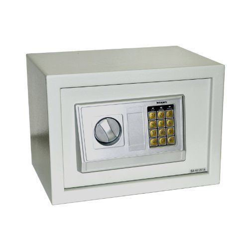 Instapark® E25DB Electronic Safe with Back-up Key, Color Beige by Instapark-Safe. $47.50. Keep your valuables out of reach from the wrong hands with the Instapark DB series electronic safe. Powered by 4 AA batteries, this electronic safe with heavy-duty steel construction keeps cash, jewelry, guns, documents and other valuables safe and secure and offers you a peace of mind, ideal for home use, office security & even traveling on the road. Electronic keypad w...