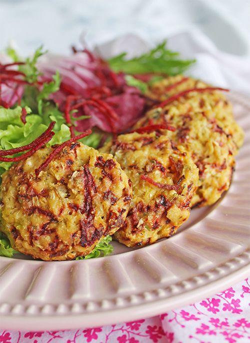 Hambúrguer Vegetariano de Couve-flor e Tofu - LIGHT | Blog Figos e Funghis