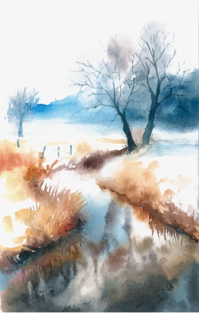 Vector Watercolor Landscape Watercolor Landscape Landscape
