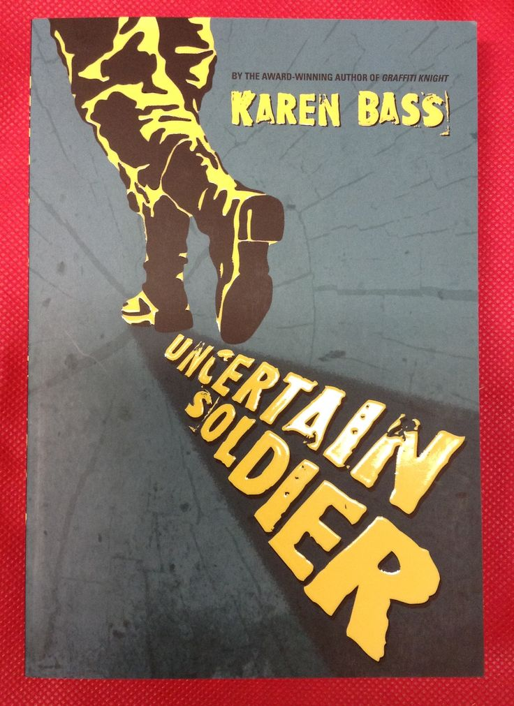 """Uncertain Soldier, Karen Bass. Sabotage. That's the real word for the """"accidents"""" plaguing the logging camp. Erich is a 17 year-old German prisoner of war, cutting tress in the Alberta wilderness. Max is 12 and the son of German immigrants, making him an easy target for his classmates grief and anger over the war. His escape is the logging camp. When he befriends the enemy at the camp he could be done for. Both boys know to keep their heads down & mouths shut, until they can't."""