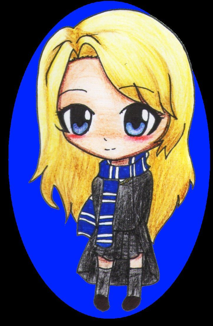 Luna Lovegood Chibi By Cacoxima On Deviantart Harry Potter Drawings Harry Potter Fan Art Luna Lovegood