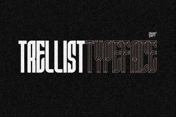 Trellist Typeface by Imagi Type Co. on @creativemarket