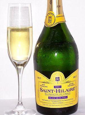"""""""La blanquette de Limoux est un vin effervescent, protégé par une AOC. Son terroir viticole se situe dans le département de l'Aude, à 25 kilomètres de Carcassonne. Ce secteur produit aussi un autre vin effervescent, le crémant de Limoux et un vin tranquille le Limoux (AOC).""""  # methode ancestrale (Pour la blanquette de Limoux méthode ancestrale, seul le Mauzac B est utilisé)  via Marie, Pokhara"""