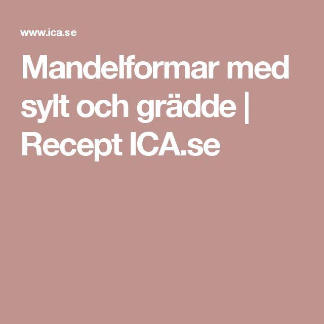 Mandelformar med sylt och grädde | Recept ICA.se