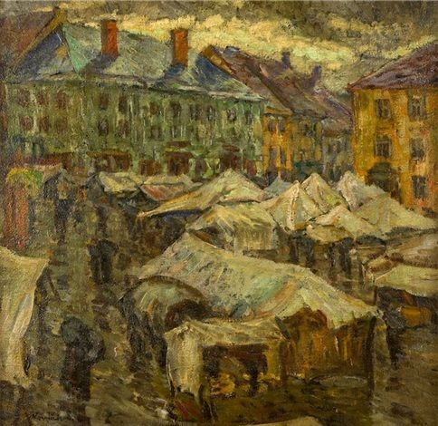 Trh v Kutné Hoře, 1910