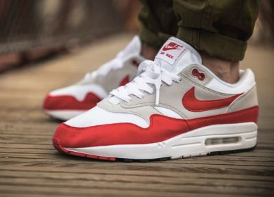 Nike Air Max 1 OG Anniversary - Sport Red/White - 2017 (by vieilleecole
