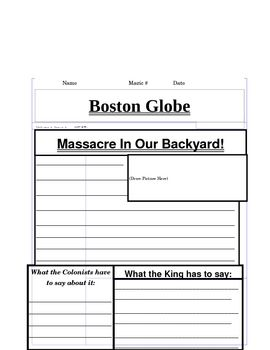 American revolutionary war worksheets middle school