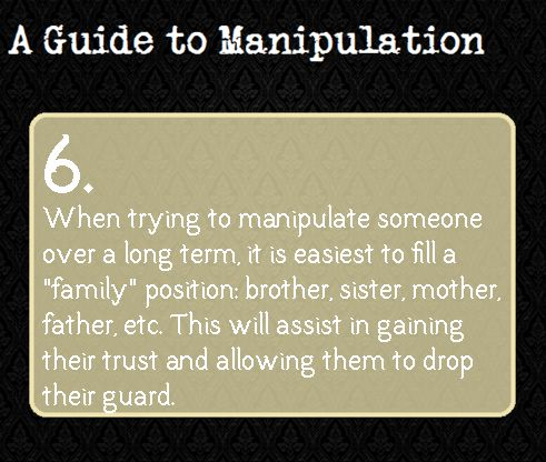 A Guide To Manipulation — Suggested by yourrigisred. This is exactly what Kasai does in Look Away