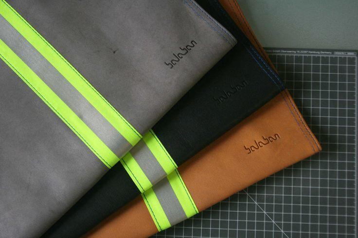 https://flic.kr/p/Dc7XkG | balabanbags 16.40 gray, black, yellow leather with phosphor band