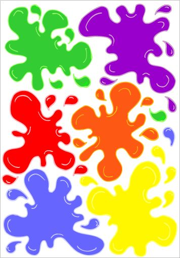 Multicolored Paint Splat Decals New Youth Room Children