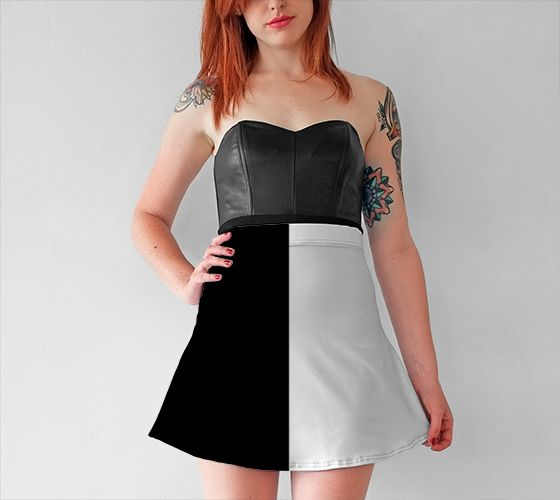 Duality Flare Skirt - Available Here: http://artofwhere.com/shop/product/56406