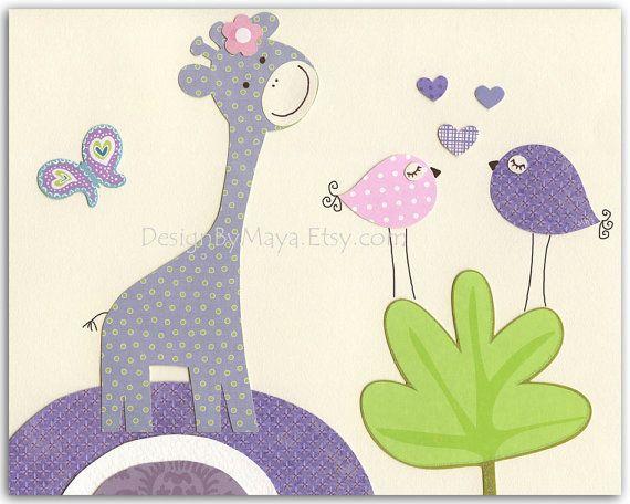 Baby girl Room Decor Nursery wall Art prints by DesignByMaya, $17.00