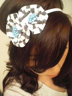 Fabric flower headband