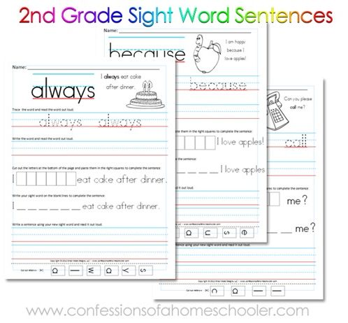 Free+printable+2nd+Grade+Sight+Word+Sentences