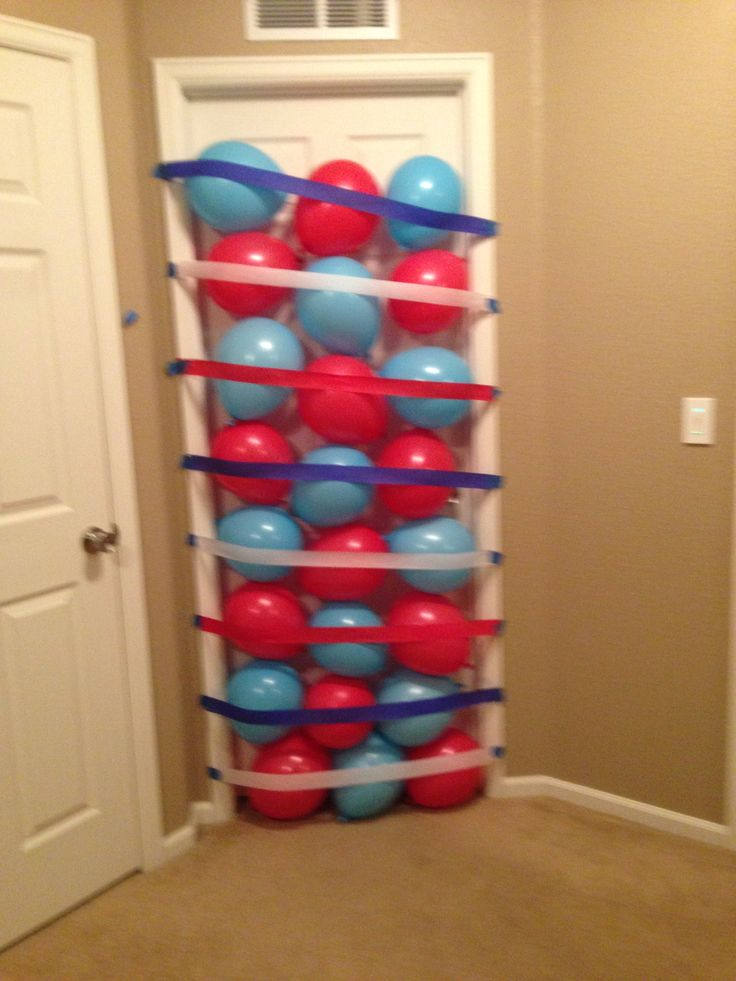 Birthday balloon door surprise! Color coordinated even!
