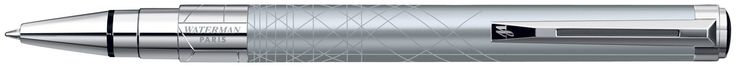 Waterman Perspective Ballpoint Pen - Decorative Silver Chrome Trim