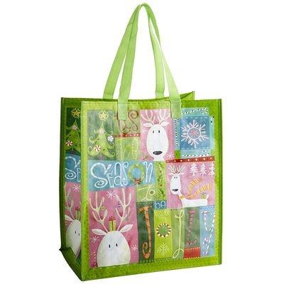 Reusable Holiday Collage Bag