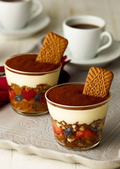 tiramisu and coffee