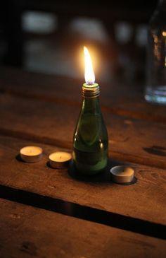 DIY - Une lampe à huile pour les soirs d'été: Simplette                                                                                                                                                                                 Plus