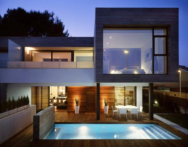 Rocafort Residence. Antonio Altarriba, Architects. Valencia, Spain. #modern #architecture