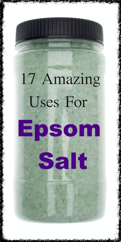 17 Amazing Uses for Epsom Salt… Some of Which You Won't Believe :http://healthyload.com/17-amazing-uses-epsom-salt-wont-believe/