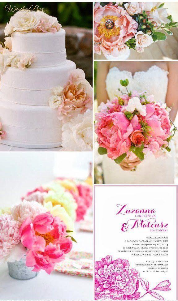 Ślubne kwiaty w kolorze różu i bieli!