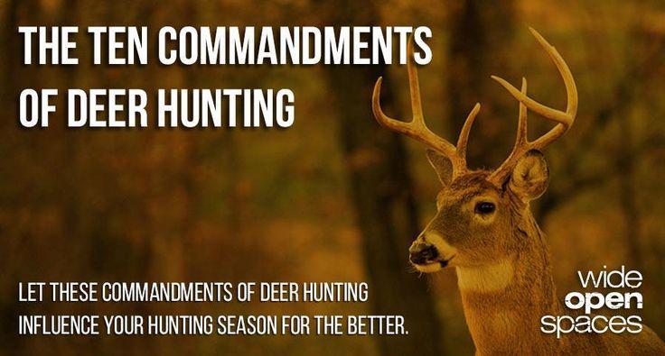 Ten Commandments of deer hunting.