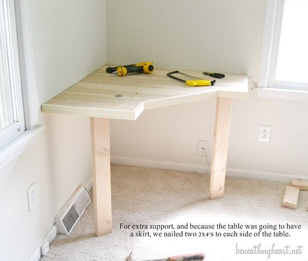 DIY dressing table... Change for craft room?