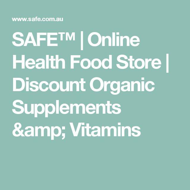 SAFE™ | Online Health Food Store | Discount Organic Supplements & Vitamins