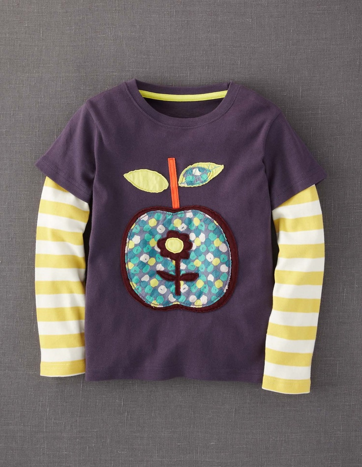 $28.00 Mini Boden Apple Retro Appliqué T-shirt