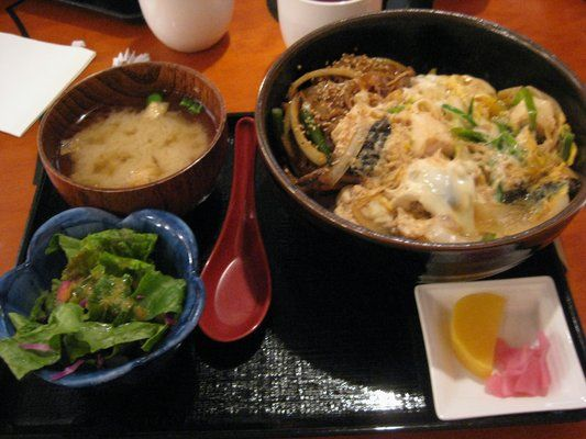 ... sukiyaki donburi style! The appetizer like the croquettes are