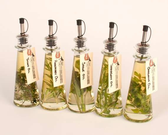 Five Herb Infused Cooking Oils