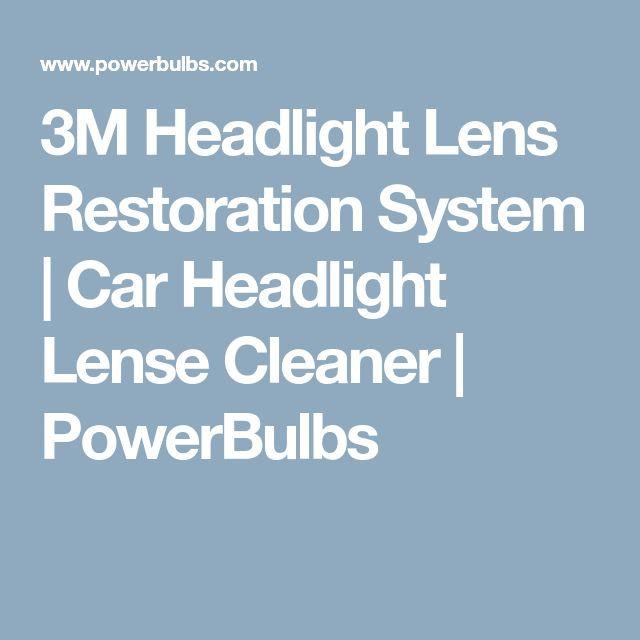 3M Headlight Lens Restoration System   Car Headlight Lense Cleaner   PowerBulbs