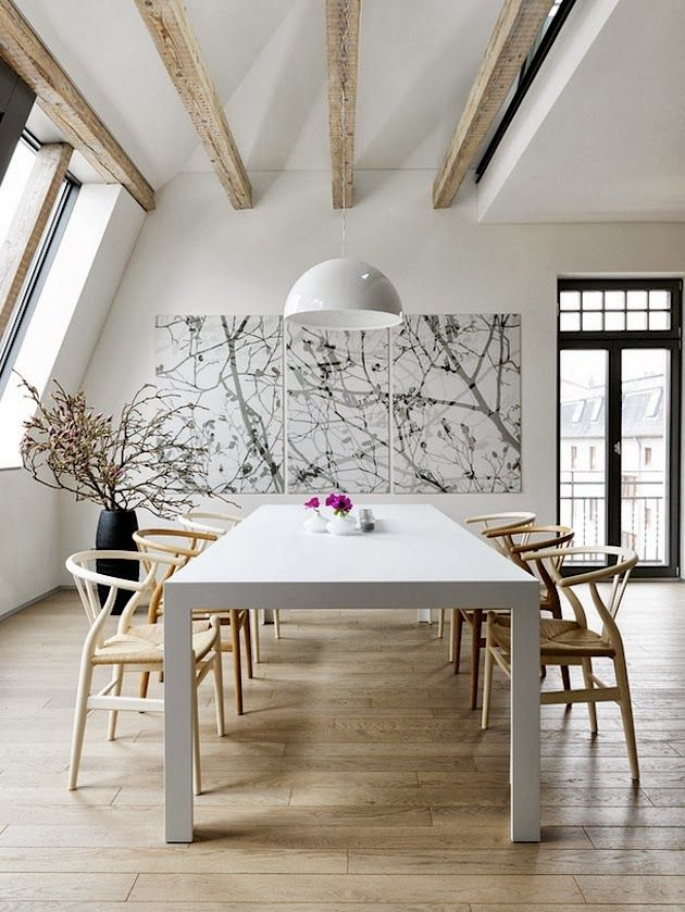 lovely, simple dining room