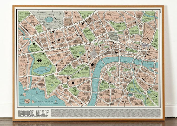 A street map made up from the titles of over ;600 ;books from the history of English Literature (and a few favourites from further afield). The Mapincludes classics such as Mansfield Park, Northanger Abbey, Bleak House, Vanity Fair and Wuthering Heights as well as 20th and 2...