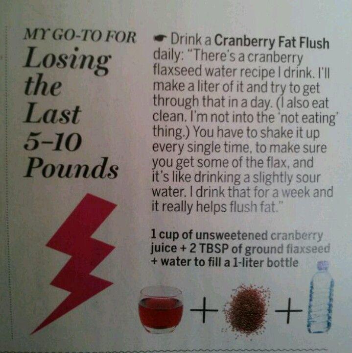 Cranberry fat flush