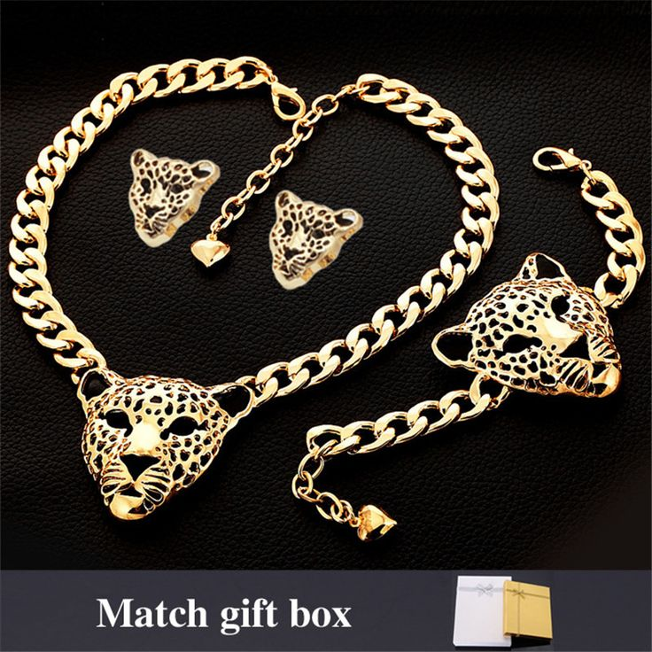 Cheap bracelet chain, Buy Quality bracelet jewelry directly from China bracelet fashion Suppliers:                        Jewelry Sets Choker Necklace Bracelet For Women Earrings Trendy Cool Items Lion Head 18K Rea