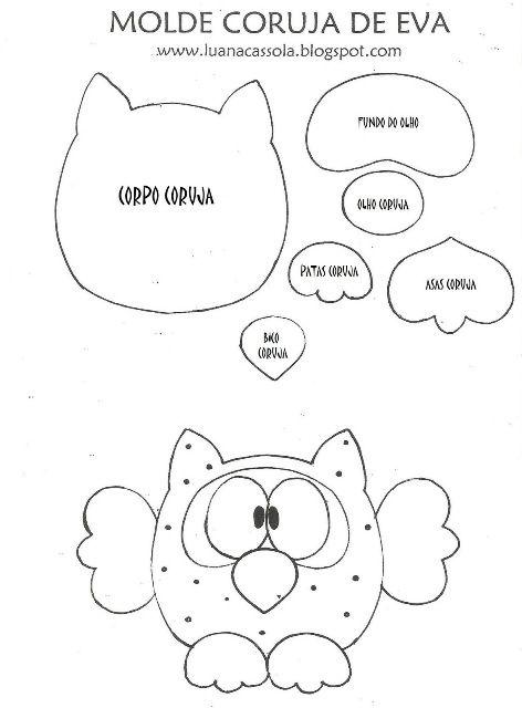 DECOLABORES de Lalena Diseños: MOLDES DE BÚHOS.. QUE LINDOS!!!                                                                                                                                                                                 Más