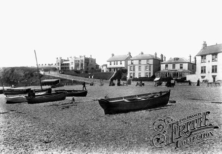 Seaton, Beach and Castle 1898 - Francis Frith collection