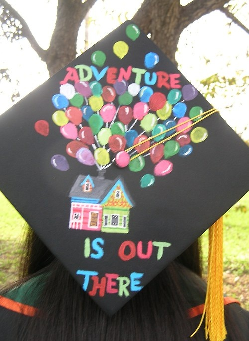 Disney Up Graduation Cap :) So cute!