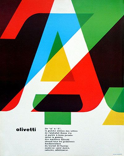 Olivetti Advertising, designed by Walter Ballmer - 1964.