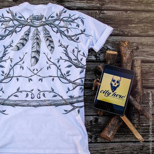 Forest design for city heroes Лесной дизайн для городских героев T-shirt Forest hunter 35,99 EUR | 1, 999 руб #cityhero