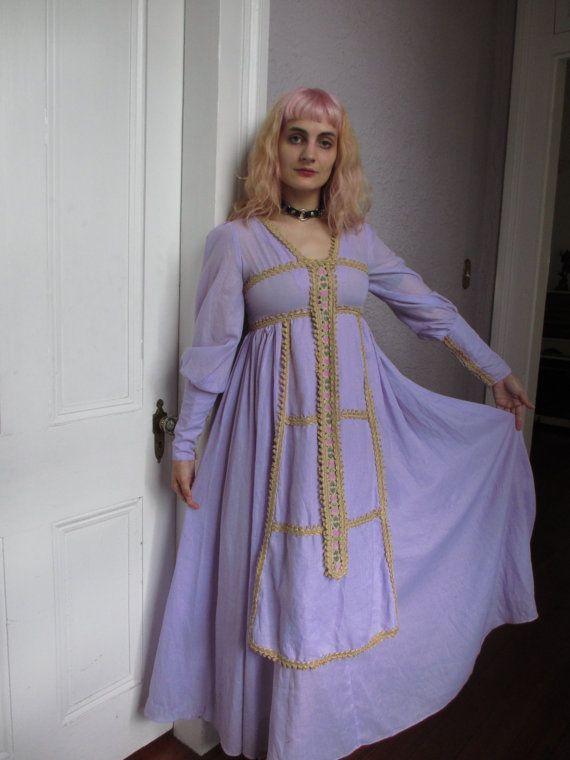 60s Gunne Sax Fairy harten Hippie Maxi jurk door PaisleyBabylon