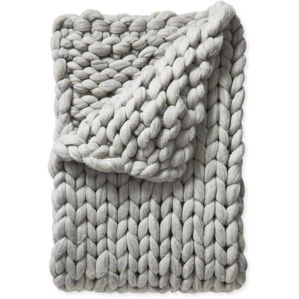 Serena & Lily Henley Wool Throw (€500) ❤ liked on Polyvore featuring home, bed & bath, bedding, blankets, chunky throw, wool throw, chunky wool blanket, chunky blanket and wool bedding