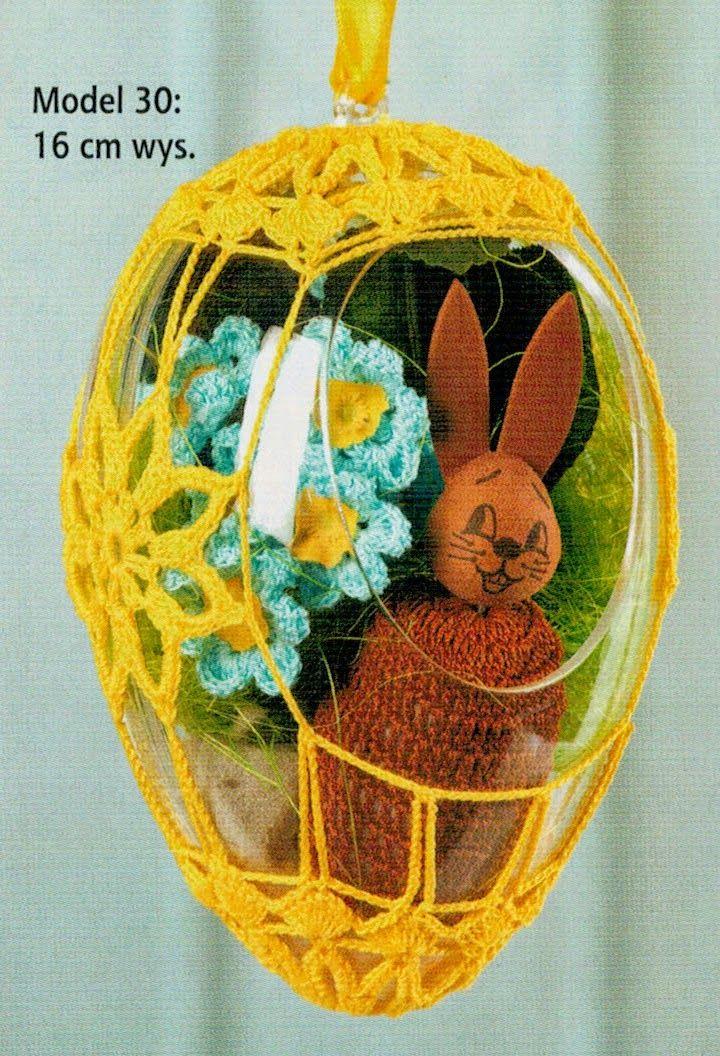 Schematy Szydełkowe Ozdoby Wielkanocne Jajka Wielkanoc Pinterest